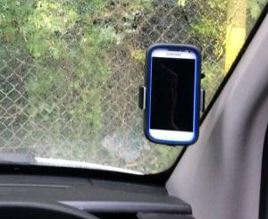 phone holder screen